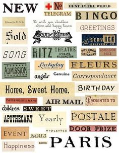 Love these! Free printable word collage by Sweetly Scrapped!