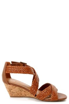 City Classified Evelyn Tan Strappy Braided Wedge Sandals - $25.00