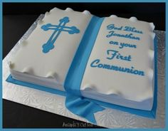 Communion Cakes for Boys | Amanda's Custom Cakes: First Communion Cake by clarice