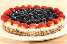 klik på billedet for at komme tilbage Fruit Recipes, Summer Recipes, Cookie Recipes, Dessert Recipes, Danish Food, No Bake Desserts, Beautiful Cakes, No Bake Cake, Food And Drink