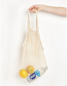 Ivory Fisherman Net Shoulder Bag
