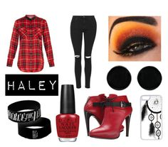"""""""Outfit For Haley #1"""" by adrianaalcala on Polyvore featuring Vince, OPI, Topshop, COSTUME NATIONAL, AeraVida and CellPowerCases"""