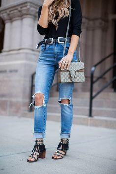 Shopping Guide: Bodysuits. - Mia Mia Mine. Shopbop Bodysuit, Levi's Jeans, Sam Edelman Sandals, Asos Belt, Le Specs Sunglasses, Gucci 'Dionysus' Bag