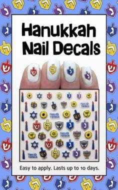 Holy Manicure! This Hanukkah, get into the holiday spirit with dreidels, candles, and menorahs at your fingertips! Includes 55 decals for adults & children Easy to use Lasts up to 10 d...