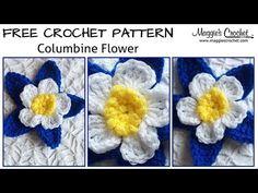 Columbine Flower Free Crochet Pattern - Right Handed - YouTube - Maggie's Crochet