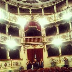 Giuseppe Verdi Theater in Busseto: 280 seats only! - Instagram by @n_montemaggi