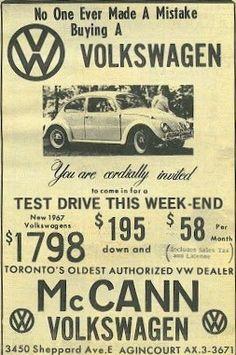 1967 VW Ad