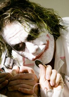 """Do I really look like a guy with a plan? You know what I am? I'm a dog chasing cars. I wouldn't know what to do with one if I caught it! You know, I just... *do* things."" Heath Ledger as Joker in The Dark Knight"