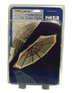 Celebrations Clear Umbrella Rope Light [Misc.] by Celebrations. $18.99. Celebrations Clear Umbrella Rope Light 22 13mm Clear Rope 18 Lead Wire Comes With Zip Ties To Fasten The Light To The Umbrella Displays Along The Outer Rim Of 9 Umbrella Boxed All items sold new in original packaging