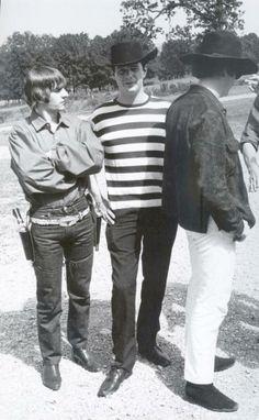 Ringo, Brian Epstien and John - Sept 19, 1964, at Pigman Ranch on a day off near Alton, MO