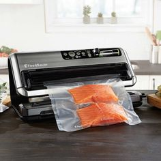 Food Vacuum Sealer System Preservation Manual Start Stop Container Countertop #Unbranded