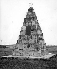 Poland, Postwar, A monument built from gravestones.