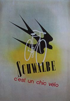 Artists: Behrmann & Bosshard Year: 1938 Product: Schwalbe Bicycles
