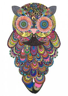 Owl, Anne-Sofie Holm | Artist | Page 4- i want to make something like this, out of scrapbook paper.