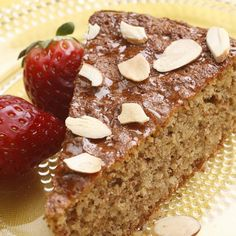 Honey and almonds flavor this simple (and gluten-free) cake. It's lovely for afternoon tea or a spring holiday dessert.