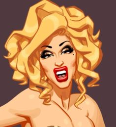 Adore Delano as Anna Nicole Smith by Chad Sell