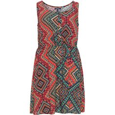 Samya Orange / Multicolour Plus Size Printed sleeveless dress (815 ARS) ❤ liked on Polyvore featuring dresses, orange, plus size, plus size holiday dresses, womens plus size summer dresses, orange dress, special occasion dresses and plus size cocktail dresses