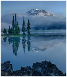 Tranquility by Mary Bates on 500px Sparks Lake outside of Bend, OR.
