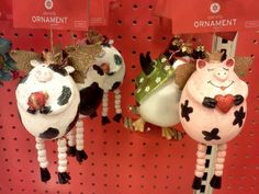 Christmas tree pig ornaments | Every day I see a cow