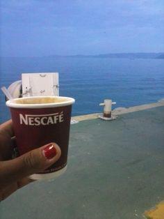 Quiero tomarme un café viendo el mediterráneo #Sea #coffe #infinite