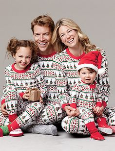 I would be the mom/wife that would make my family wear matching ADORABLE jammies like these :)
