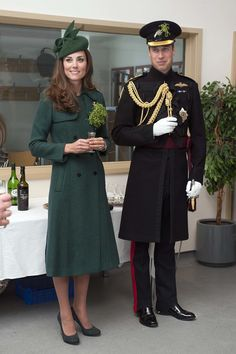 The Duke and Duchess of Cambridge on St. Patrick's Day 2014.