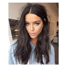 dark hair Stylish Long Messy Hairstyle hair, 30 Flattering Haircuts And Hairstyles For Diamond Face Shape Dark Brunette Hair, Brown Blonde Hair, Dark Brown Hair Rich, Long Dark Hair, Brown Hair With Blue Eyes, Blonde To Brunette Before And After, Cool Tone Brown Hair, Dark Fall Hair, Hair Trends
