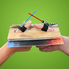 The Cantina Crew (Facebook) :  This takes Thumb Wars to a whole new level. ~Ma◕Z  http://www.thinkgeek.com/product/1378/?cpg=cj&ref&CJURL&CJID=2470763