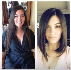 22 exemples de coiffures AVANT/APRÈS pour changer de look, tout en restant sexy