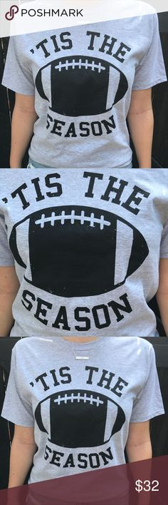 NEW! 'Tis The Season Tee NEW! Trendy Tee Perfect for Football Season!               Model wearing size small Tops