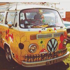 Car goals hippie bohemian 70s volkswagen camper van