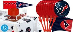 Houston Texans Super Party Kit~Party City
