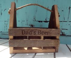 Home Brew Rustic Chic Barn Wood Tote, Wooden Beer Caddy, Handcrafted Beer Tote, Home brew Personalized