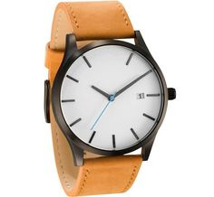 Casual Minimalistic Style Stainless Steel Sapphire Glass Miyota Movt Watches High Quality Timepiece with Genuine Leather Strap