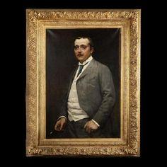 Parisian gentleman, #19th Century. #Oil on #canvas. Exceptional portrait of a Parisian aristocrat of the late 19th century. For sale on #Proantic by La Corte Degli Ulivi Gallery .