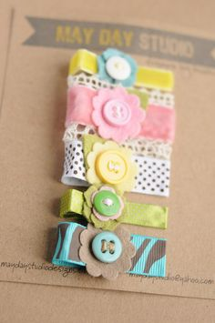baby toddler girls alligator hair clips collection - spring bouquet - pinch clips set. $12.00, via Etsy.