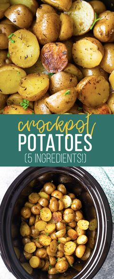 Herb and Olive Oil Crock Pot Potatoes