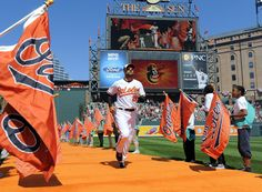 baltimore orioles players | Orioles Nick Markakis is announced onto the field. Baltimore Orioles ...