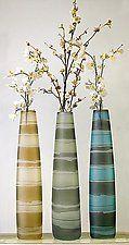 Hula Chimney Vase by Penelope Wurr (Art Glass Vase)