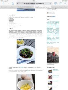Blåskjell i tomatsaus Hamburger, Blogging, Dessert, Deserts, Postres, Burgers, Desserts, Plated Desserts