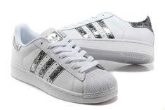 Adidas Superstar II Tache Blanche Serpent D'argent