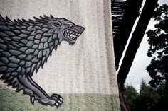 Photo of Stark banner for fans of House Stark 30559501 Eddard Stark, Ned Stark, Sansa Stark, Bran Stark, Narnia, Game Of Thrones Tv, King In The North, Dire Wolf, Vikings