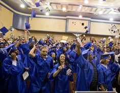 Dorchester MA 6/10/16 Gaduates at Jeremiah Burke High School celebrate their graduation on Friday June 10, 2016. (Photo by Matthew J. Lee/Globe staff) topic: reporter: