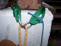 Retriveable rappel sling rigging: summit post
