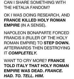 WHO ELSE IS DYING?<---don't worry Prussia saved him and set him up as Ludwig but he unfortunately has no memory do HRE, it's a headcannon I read that should be cannon << Prussia set up the unified German empire out of the remains of the holy roman empire Spreading Rumors, Hetalia Headcanons, Hetaoni, Spamano, Holy Roman Empire, Fandoms, Axis Powers, Anime Shows, Crying