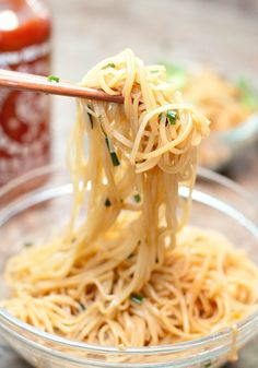 15 Minute Garlic Fried Noodles    This flavorful and delicious garlic fired noodles requires only 6 basic ingredients and takes just 15 minutes to prepare. It is an easy and simple one-pot meal that can be enjoyed alone or served with a fish or chicken side dish.  #GarlicFriedNoodles