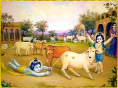 Hindu god Child krishna plying with cow Hare Krishna, Krishna Lila, Little Krishna, Krishna Statue, Krishna Hindu, Radha Krishna Pictures, Radha Krishna Photo, Krishna Book, Shiva Shakti