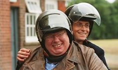 Richard Griffiths as Hector and Stephen Campbell Moore as Irwin in The History Boys.