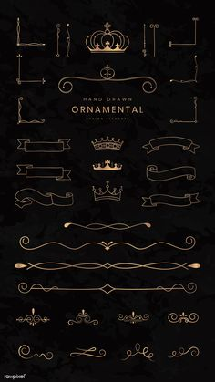 Discover recipes, home ideas, style inspiration and other ideas to try. Luxury Logo Design, Web Design, Graphic Design, Fuente Art Deco, Crown Illustration, Typographie Inspiration, Badge Template, Creation Art, Ornaments Design