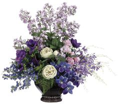 Orchid, Rose, Blossom and Anemone Arrangement